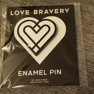 LOVE Bravery Heart Enamel Pin Lady Gaga NWT brooch